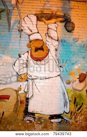 Street art Montreal chef