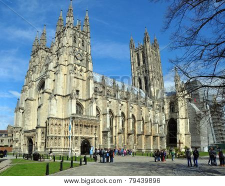 England - Canterbury Cathedral In Springtime