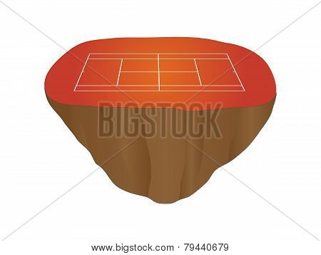 Clay Tennis Court Floating Island