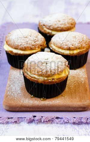 Honey And Banana Muffins