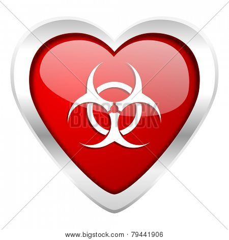 biohazard valentine icon virus sign