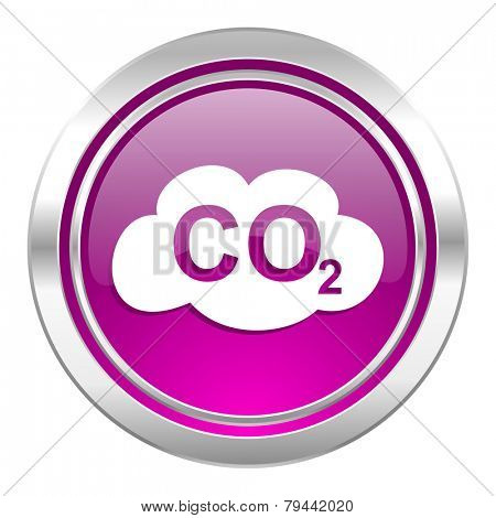 carbon dioxide violet icon co2 sign