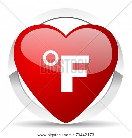fahrenheit valentine icon temperature unit sign