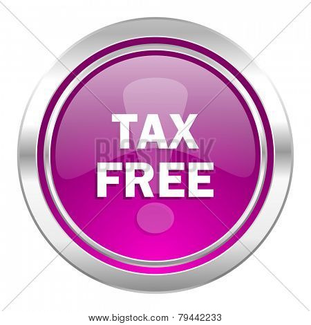 tax free violet icon