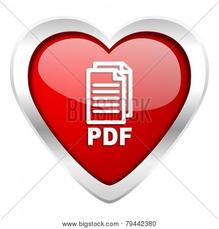 pdf valentine icon pdf file sign