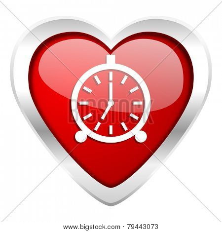 alarm valentine icon alarm clock sign