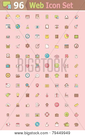 Set of the web interface icons