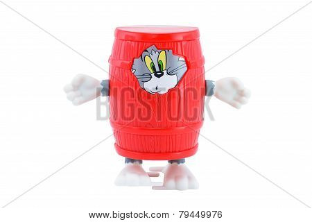 Tom In A Red Beer Barrel