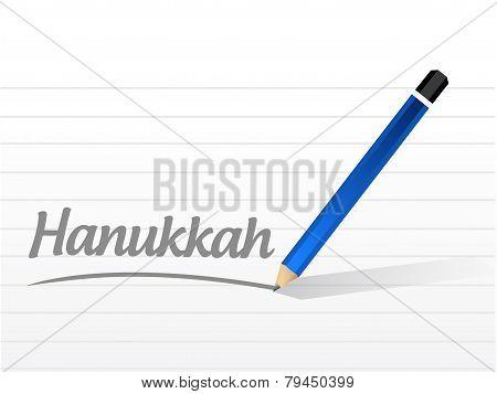 Hanukkah Message Sign Illustration