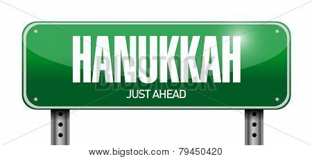 Hanukkah Street Sign Illustration Design