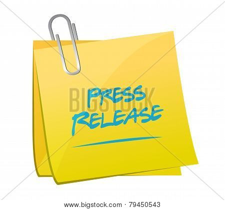 Press Release Memo Post Illustration