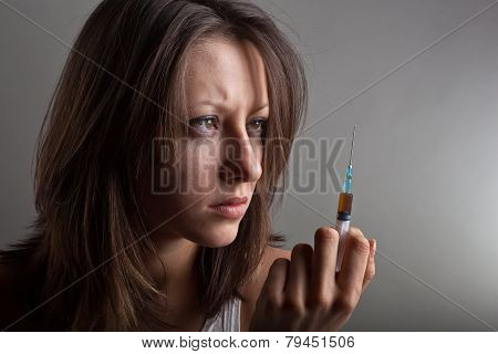 Young Woman With Drug Addiction
