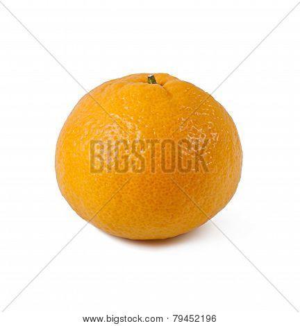 Ripe tangerines isolated on white background