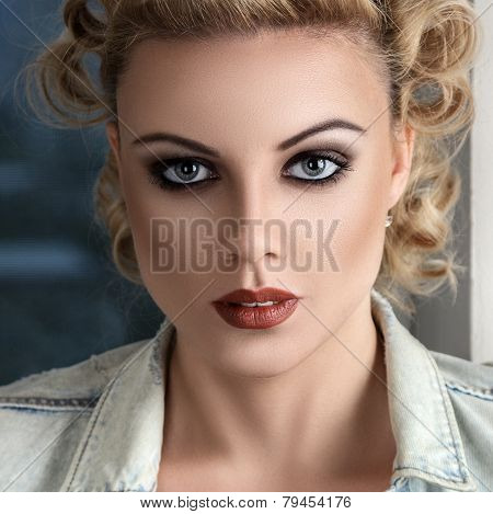 Retro Stylised Fashion Woman Portrait