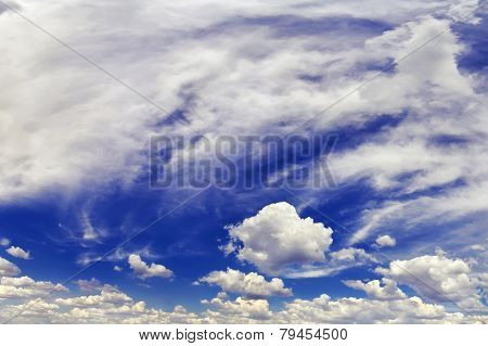 Panorama Of The Sky With Clouds