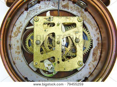 Alarm clock inside mechanism