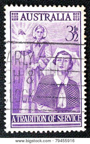 Australian postage stamp, 1955