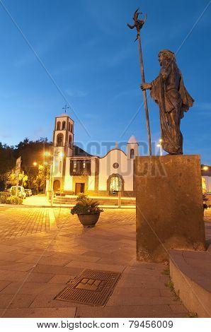 Church At Santiago Del Teide, Tenerife Island