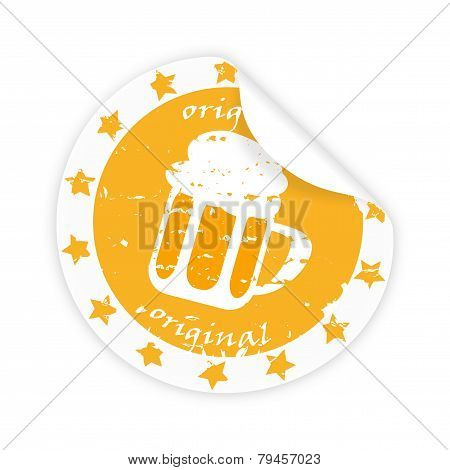 Sticker With Beer