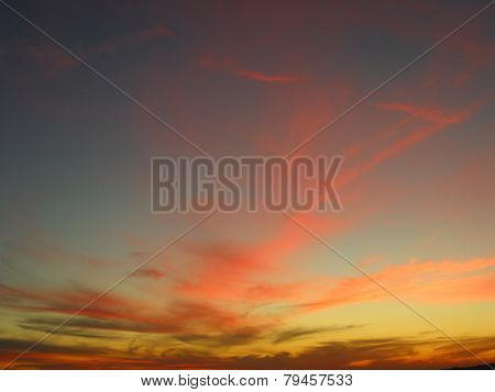 colorful sunset sky pink clouds