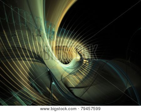 Abstract unpredictable fractal composition