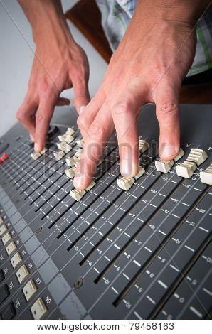 Professional studio mixing console