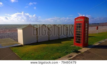 Phone Box On A Beach