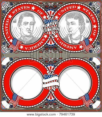 American Vintage Patriot Wedding Invite