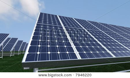 Animation Presenting Photovoltaic Panels