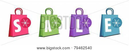 Winter sale shopping bags