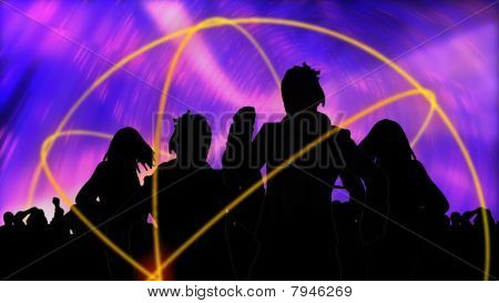 Animation Showing Group Of People Dancing