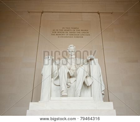 Abraham Lincoln statue in Lincoln memorial, Washington DC