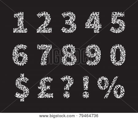 Crossed Font Numbers and Symbols