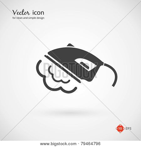 Vector Gray Iron Appliance Icon