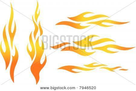 Vektor-Flammen