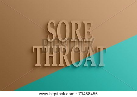3D text on the wall, sore throat