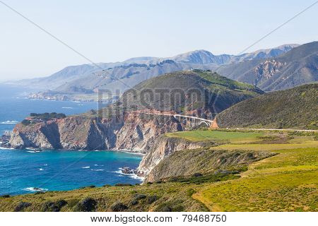 bixby bridge - california coastline in Big Sur