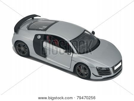 Silver Model Sport Car Audi R8