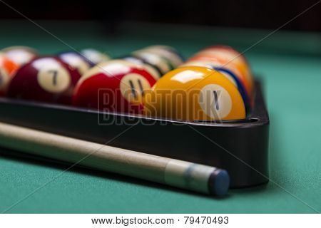 Arranged Billiard Balls; Macro; Soft Focus
