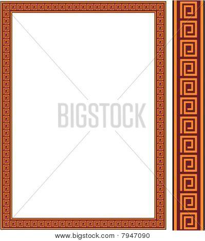 Vector antique frame