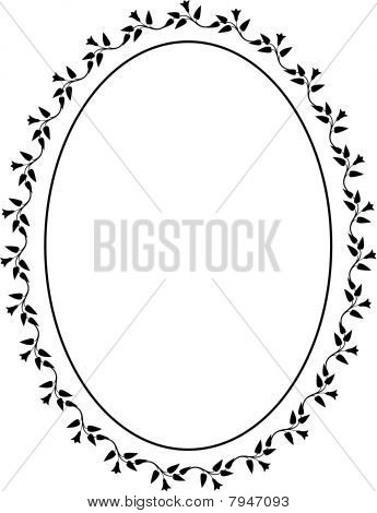 Vector oval decorative frame