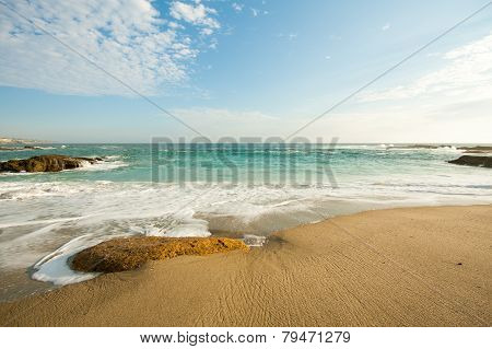 Beautiful southern california beach in a nice weather day