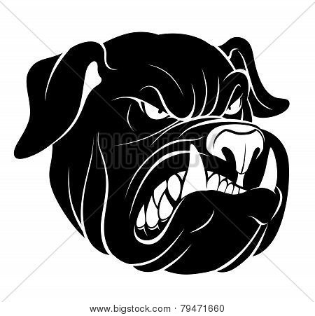 Bulldog Head Monochrome