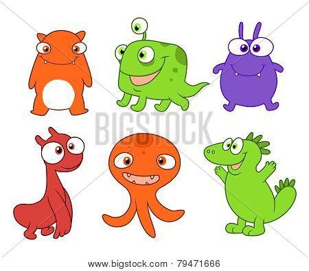 Cute Monsters Set Three