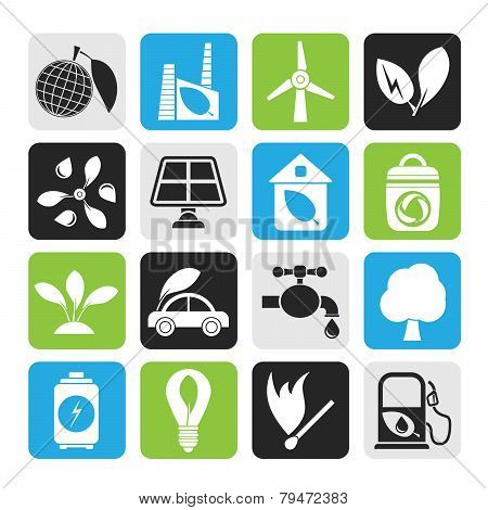 Silhouette Green, Environment and ecology Icons