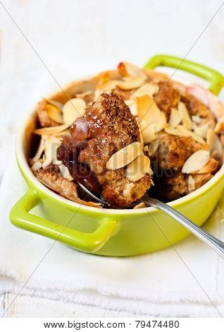 Plum And Almond Cobbler