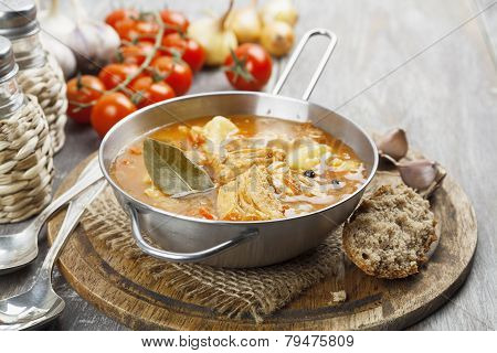 Soup With Cabbage And Meat