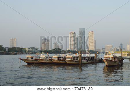 Boats On Chao Phraya River