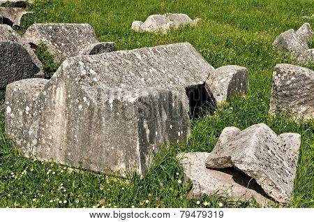 Ancient Roman Sarcophagus Cover In Grass, Marusinac, Croatia - 7