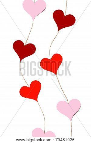 Hearts garlands